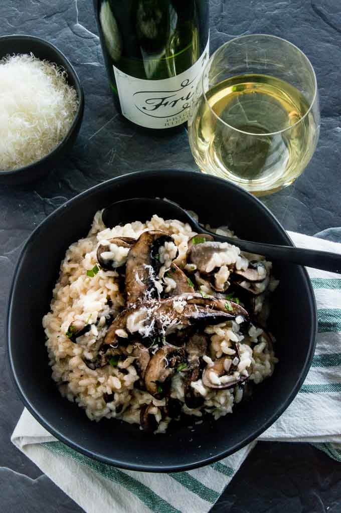 Parmesan Risotto with Mushrooms