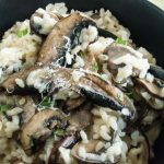 This Simple Parmesan Mushroom Risotto Recipe is a simple comfort food dish that will please everyone.  Just a few ingredients but packed full of earthy mushroom and tangy parmesan cheese flavors.