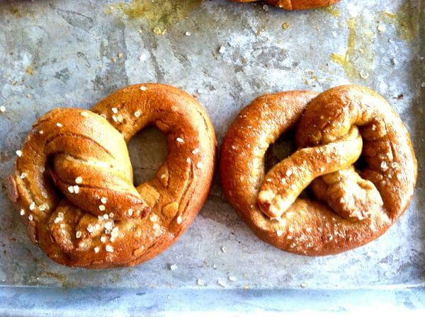 Served Fresh and arm from the oven with a soft flavorful inside and a slightly crisp bite, these Homemade German Pretzels are perfect for when you want something a little more than just chips and dip!