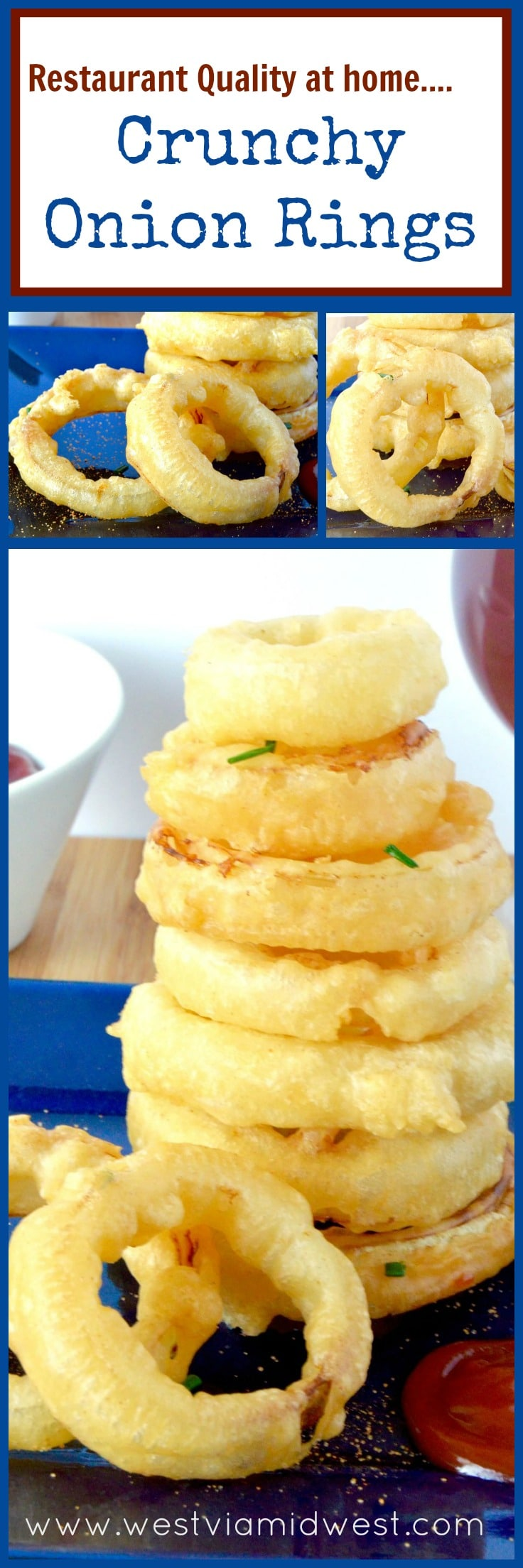 collage of all of the onion rings