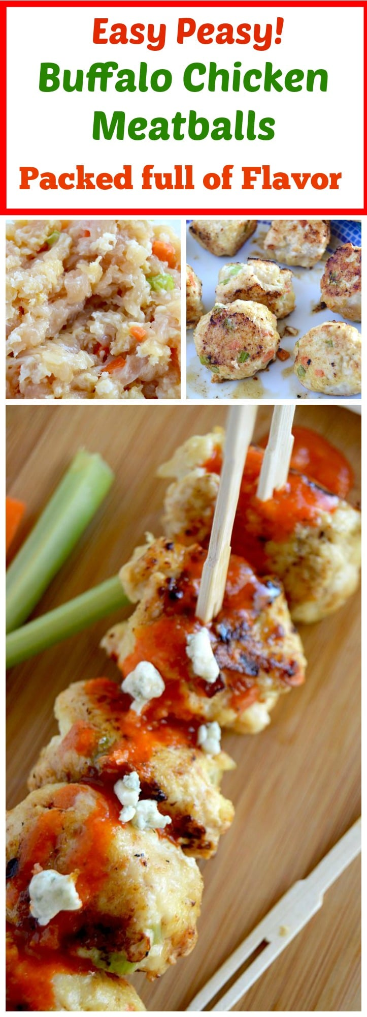 Looking for a lot of protein in your diet.... low carb, easy and healthy and full of flavor? These Buffalo Chicken meatballs are the perfect addition to your healthy eating needs! A healthy chicken wing alternative, packed full of flavor with out all the extra calories.