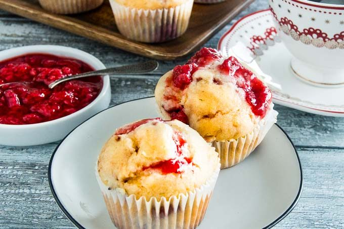 Fresh Strawberry puree is the highlight of this strawberry muffin recipe
