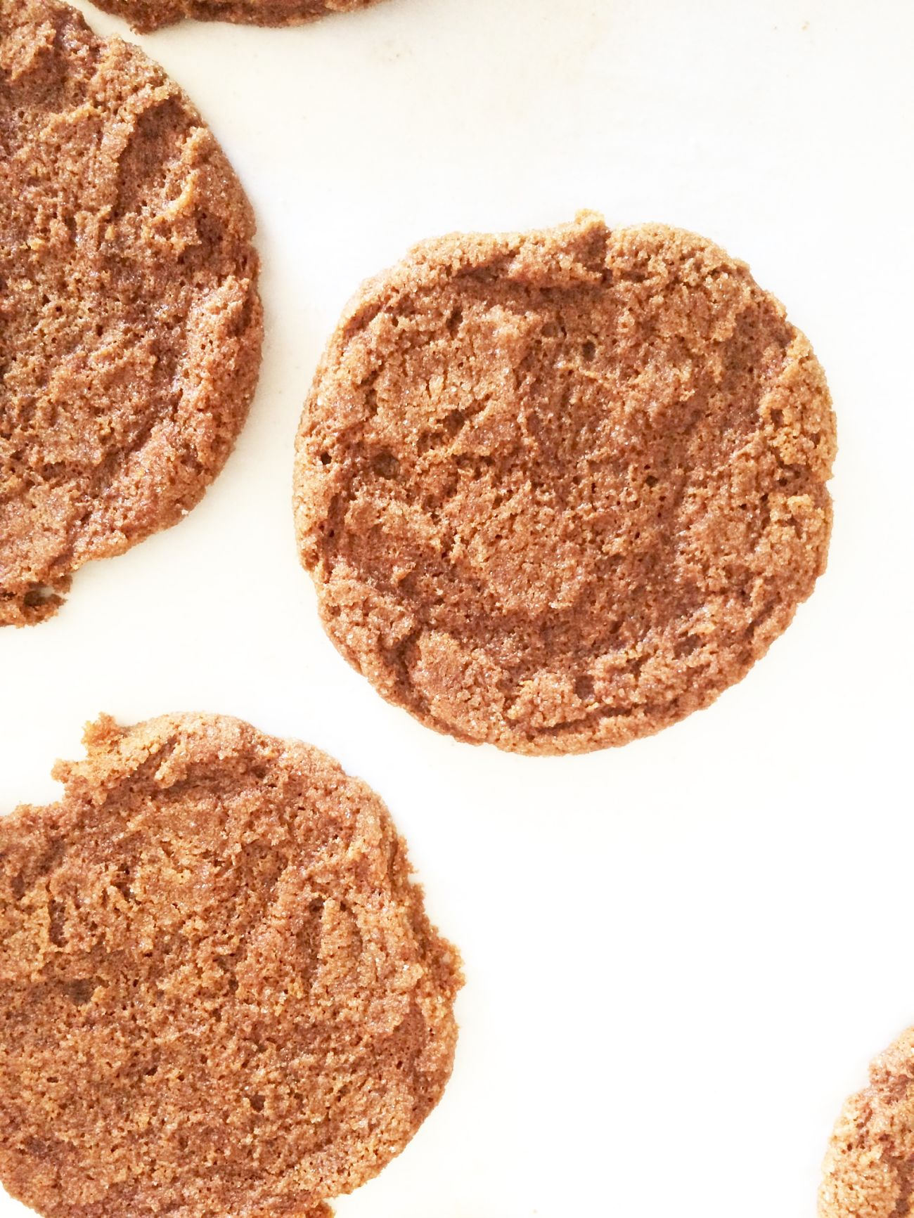 Old-Fashioned Molasses Cookies, a recipe passed down for generations. Rolled in large sugar crystals, they bake into a crisp exterior but soft in the middle. Great on their own, perfect for ice cream sandwiches! A must make!
