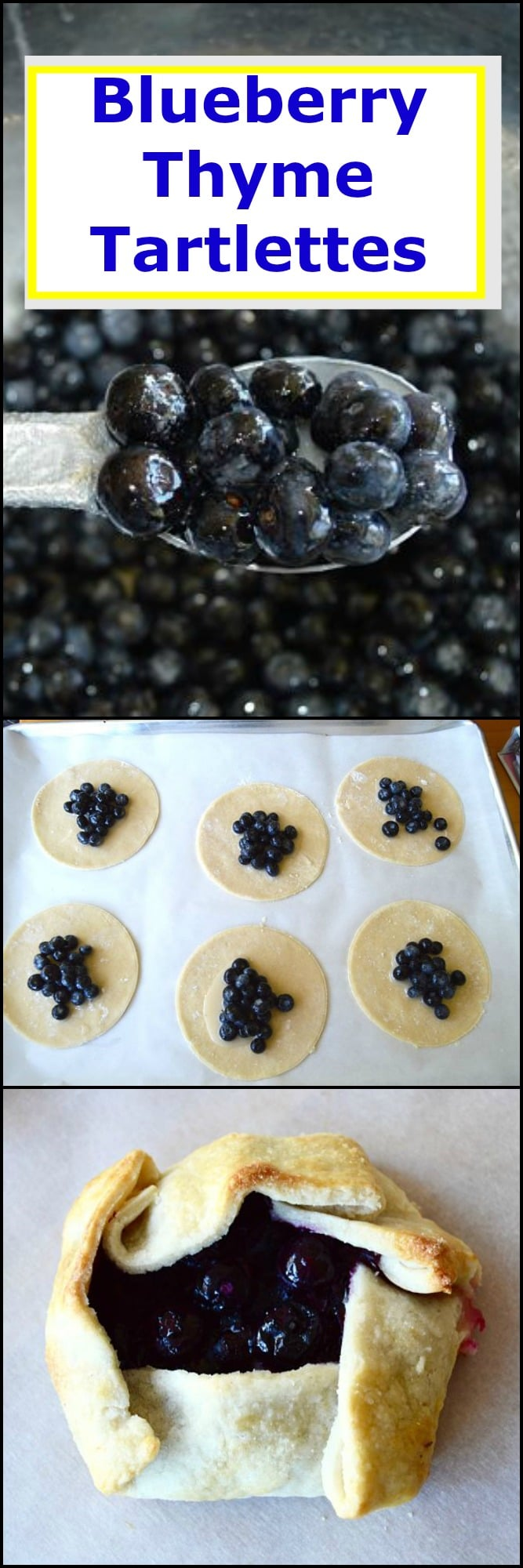This recipe for Blueberry Thyme Mini Tartlets is the perfect use of fresh blueberries. Just a few simple ingredients but when mixed together it's bursting with juicy sweet blueberries with hints of citrus and time all wrapped in a flaky buttery crust!