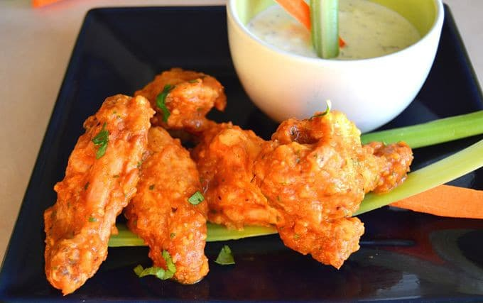 Looking for a healthy option for game day! Simple and tasty, this recipe for Baked Chicken Wings are just what you are looking for!