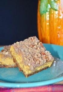 Pumpkin Bars with Pecan Crumble