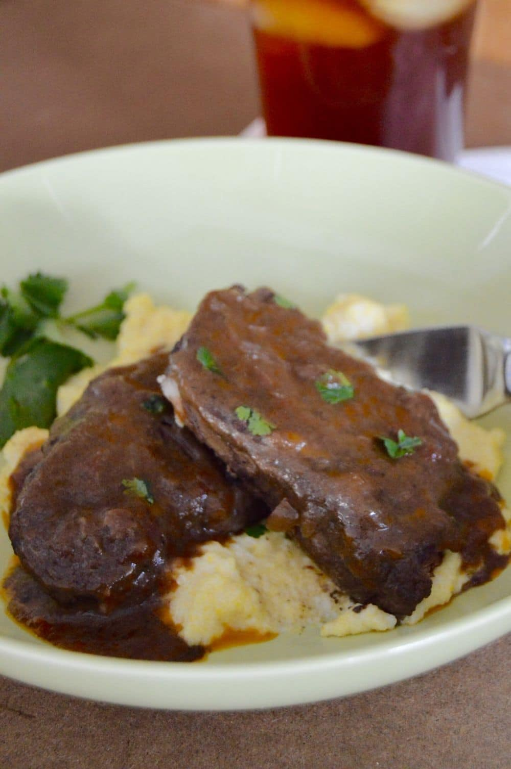 Braised Red Eye Short Ribs, when you are looking for that perfect meal that is filling, warm and easy to make for dinner, but also doesn't take much prep or a lot of effort. This recipe for Braised Red Eye Short Ribs will make you shriek with delight. It's all of those things and so very delicious… a win-win right? There's also a secret surprise with this recipe…..… I'll tell you what that is at the end of this post ;)