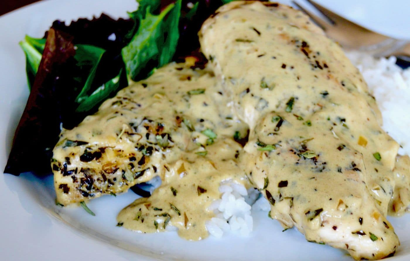 Looking for a quick weeknight dinner that will impress? This Mustard Cream Chicken Sauté recipe is easy, quick and delicious. Reminiscent of Julia Child's French dishes it is sure to be a hit for anyone craving a decadent, comforting meal!