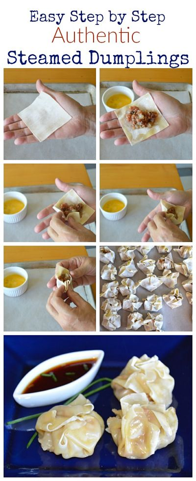 Steamed Sew Mai Dumplings just like you get at a restaurant, but better. They are so easy you will wonder why you haven't made them long before now. Served with a soy Sriracha based dipping sauce and you have a delicious appetizer.