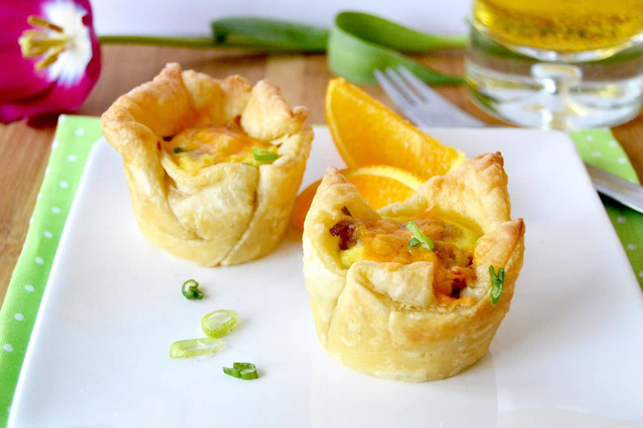 Loaded Puff Pastry Breakfast cups are full of everything you love, bacon, hash browns, eggs, sausage and cheese! All individual portions for easy eating!