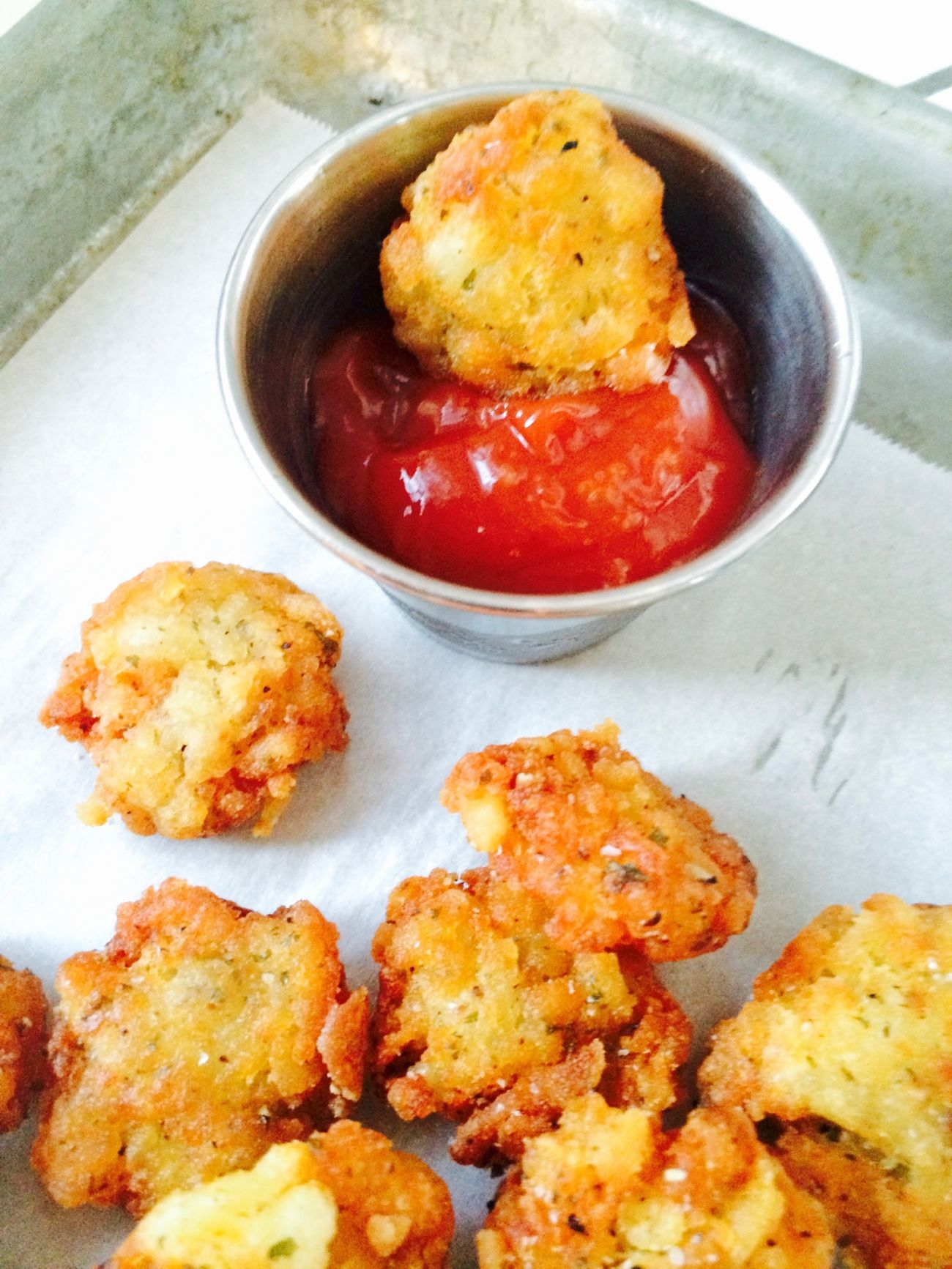 ... that right? Crunchy Bite Sized Bacon Tots! Bacon in your tater tots