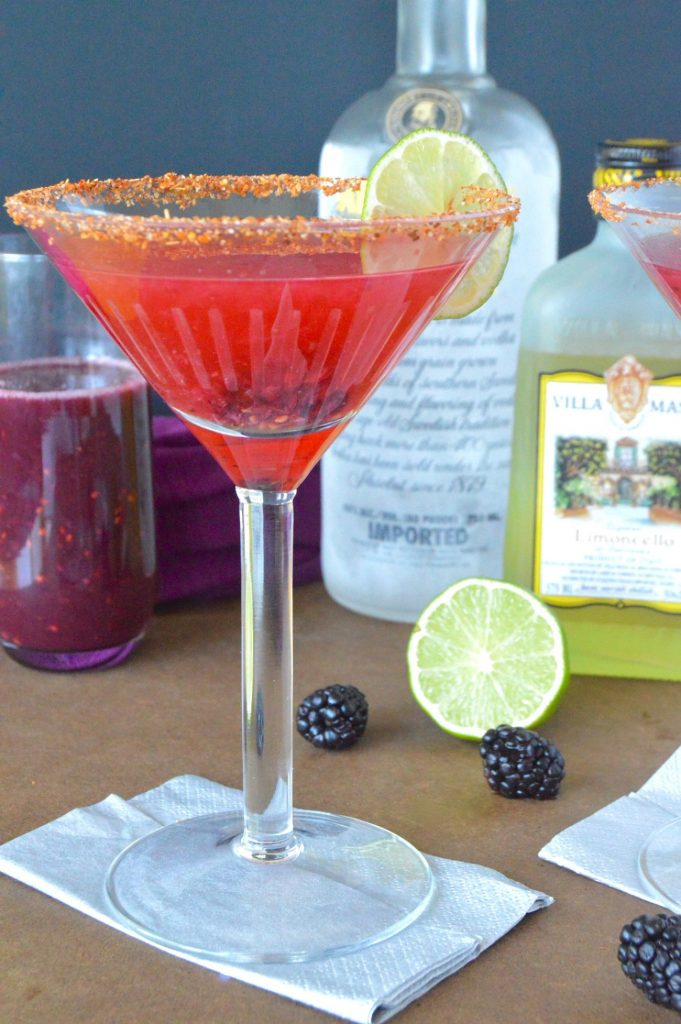 Purple Tears cocktail; refreshing because of lemon and lime with the seasonal goodness of fresh blackberries! And Vodka and the SECRET INGREDIENT for the kick you need at Happy Hour!