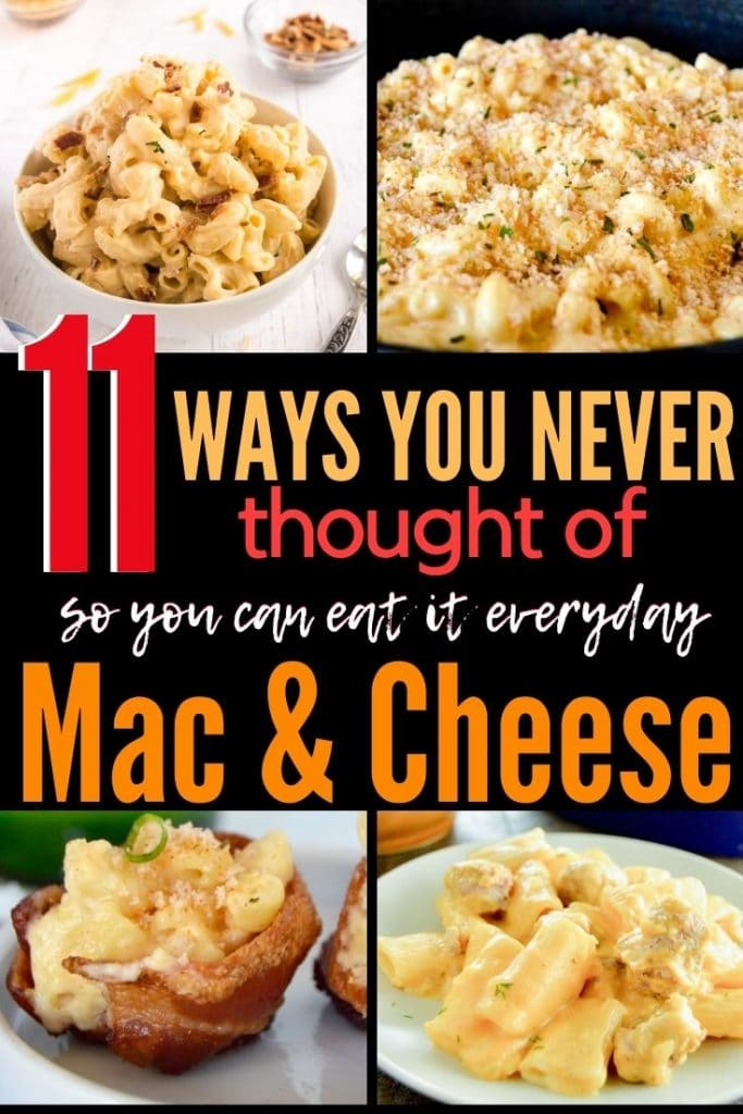 collage of Mac and cheese photos