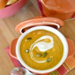 A tweak on a traditional soup, this Ginger Sweet Potato Carrot Soup hits on all flavor senses. A little bit tropical with the Ginger and Coconut Milk, but ALL comfort with the sweet potatoes and carrots. Perfect soup to make ahead and bring to a potluck, work meeting or to serve lunch with a friend at home!