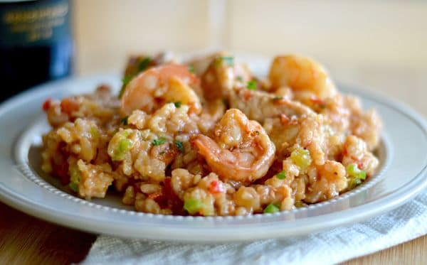 This one pot Smoky Jambalaya is great for any get together when you are looking for easy, tasty, and not a fussy meal. It's full of flavor and pairs well with any Granacha wine.