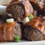 bacon blue cheese meatballs, appetizer, party food