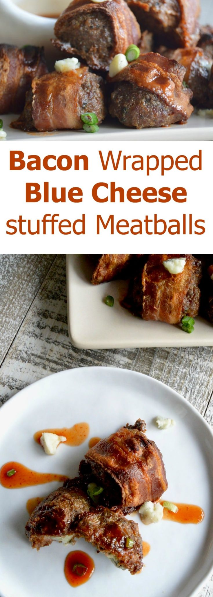 Easy peasy meatballs with a dollop of blue cheese in the middle that when you bite into it just oozes with flavor