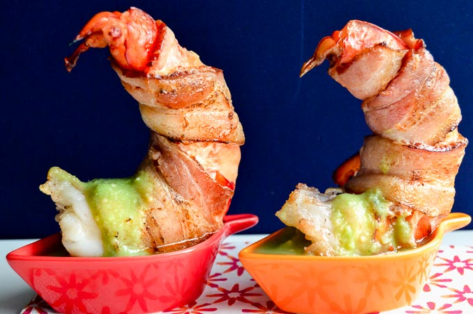 Cute Plating of shrimp in tasting bowls!