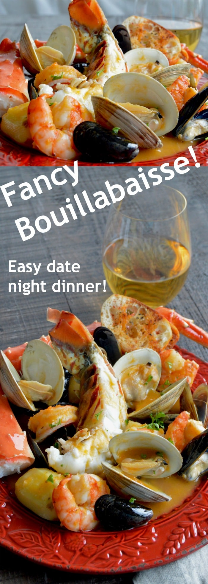 ancy shellfish, lobster crab, shrimp mussels and crab in a very flavorful homemade broth that can be on the table in less than 45 minutes!
