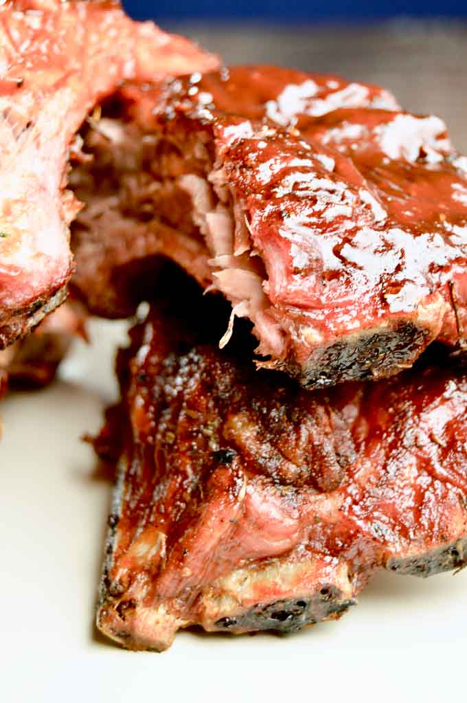 Fall off the Bone BBQ Ribs Recipe with sticky sauce