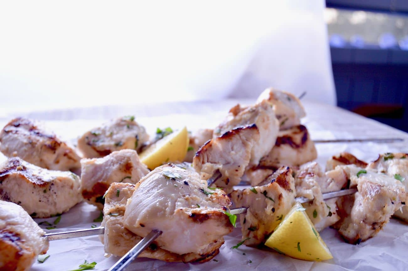 ed Coconut Lime Chicken Skewers Fresh off the grill for easy entertaining!
