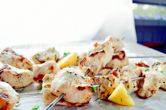 Grilled Coconut Lime Chicken Skewers