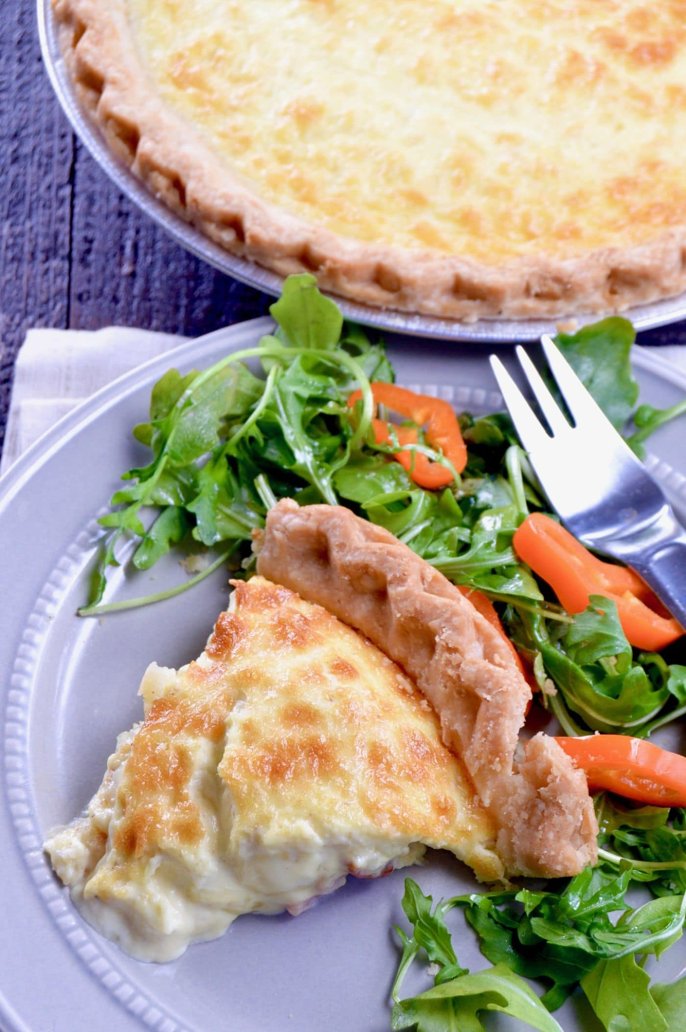No fail quiche lorraine west via midwest no fail quiche lorraine plated to serve an easy yet impressive recipe full of melty forumfinder Image collections