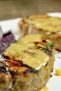 Juicy Grilled Honey Mustard Glazed Pork Chops is the no fail way to make succulent, tender chops. Marinate for 30 minutes, grill and have them on the table in about 20 minutes.