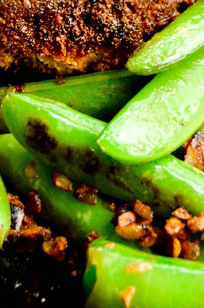 Caramelized Garlic with Sugar Snap Peas