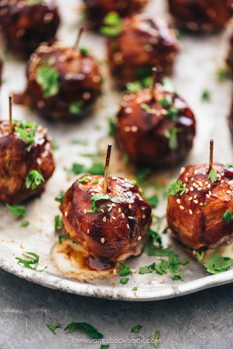 BBQ Cheesy Sausage Meatballs