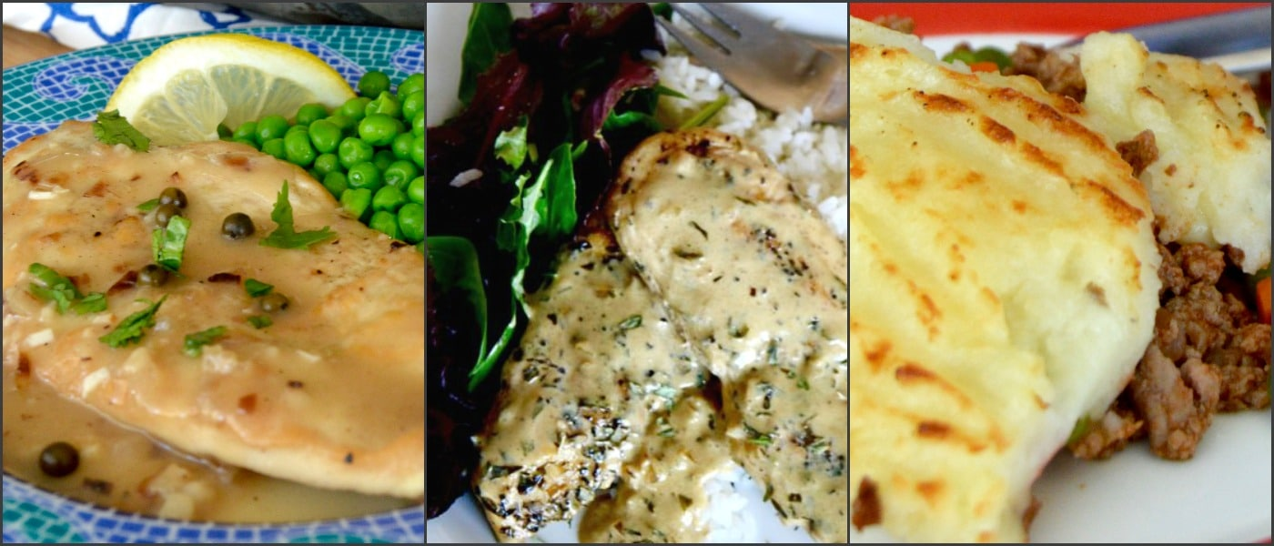 Chicken Piccata Mustard Chicken Shephards Pie... all examples of other comfort food recipes to try !