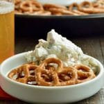 Classic Dried Beef Pickle dip is a recipe classic. A twist on the beef rollups with pickle dip you can make this up in 10 minutes and have it ready for Game day or a snack to serve during game nights!