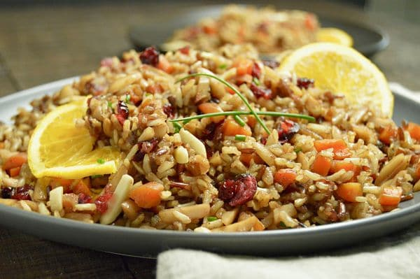 Moroccan Rice Pilaf: Fragrant,  Fluffy and Delicious: Super easy to make and impressive enough your guests will love it as a side dish for any holiday party!