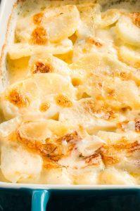 Best Scalloped Potato Recipe in a serving dish