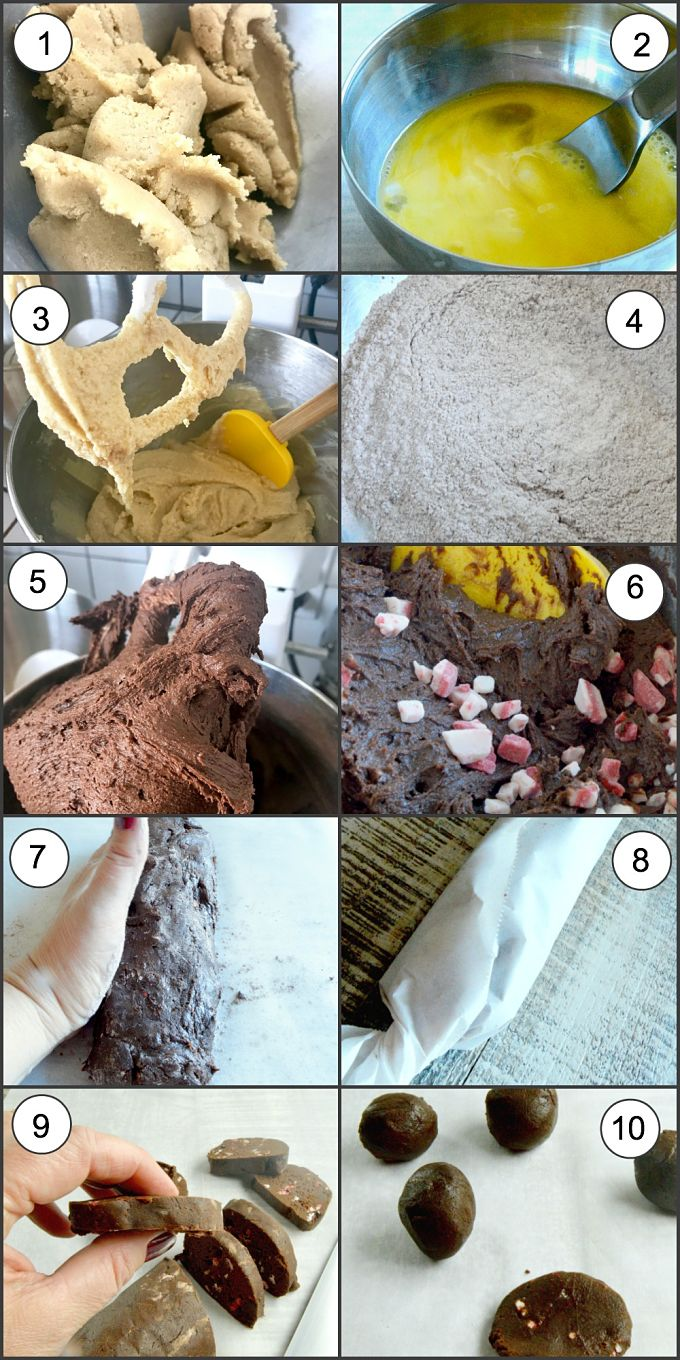 Chewy Chocolat Cookies Step By step photos of making the cookies.