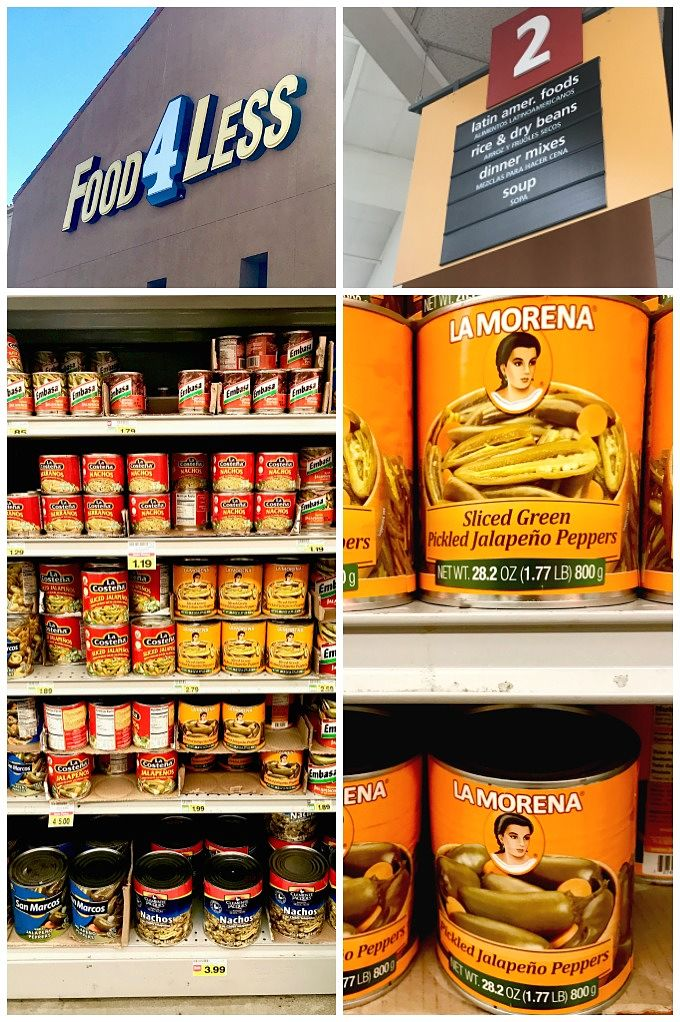 Store Identification of La Morena Brand. Where to find it on the shelf at Albertsons.