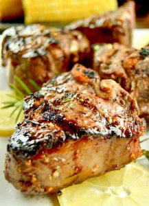 Rosemary and lemon scented Grilled Lamb Chops