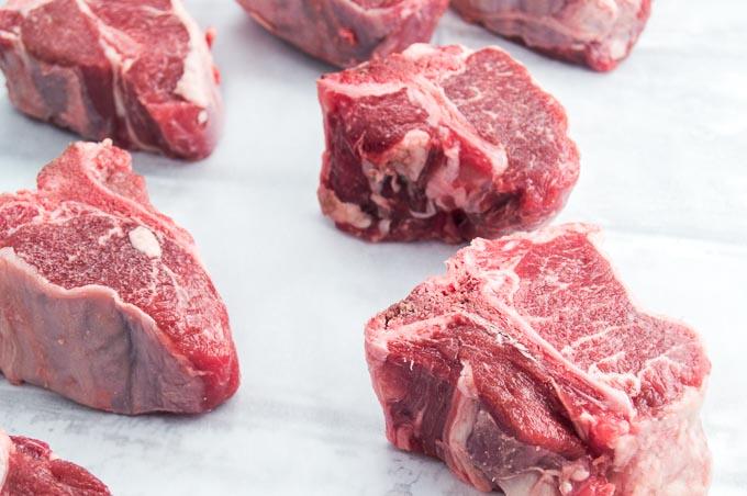 Loin Lamb Chops prepped for sautéing