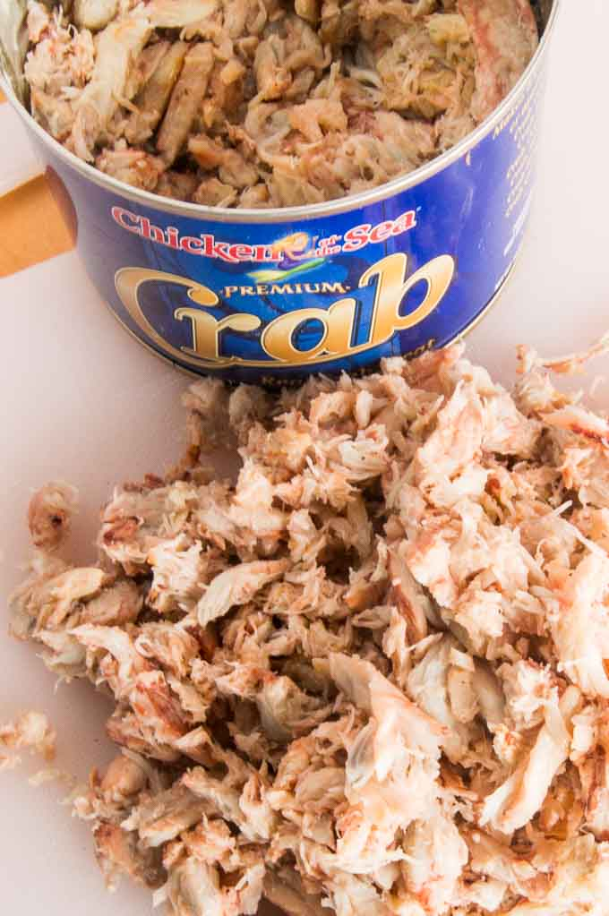 Canned Lump Crab meat ready to put in Cream Cheese Crab dip