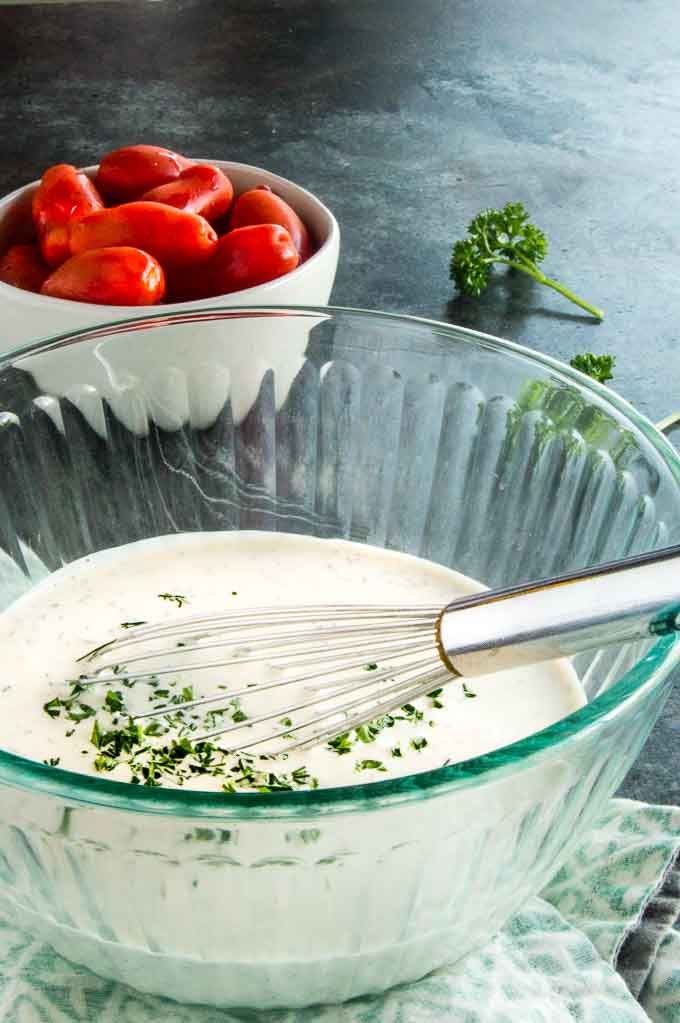 Buttermilk Ranch Dressing in a bowl