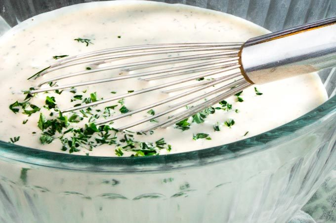 Easy Creamy Buttermilk Ranch Salad Dressing
