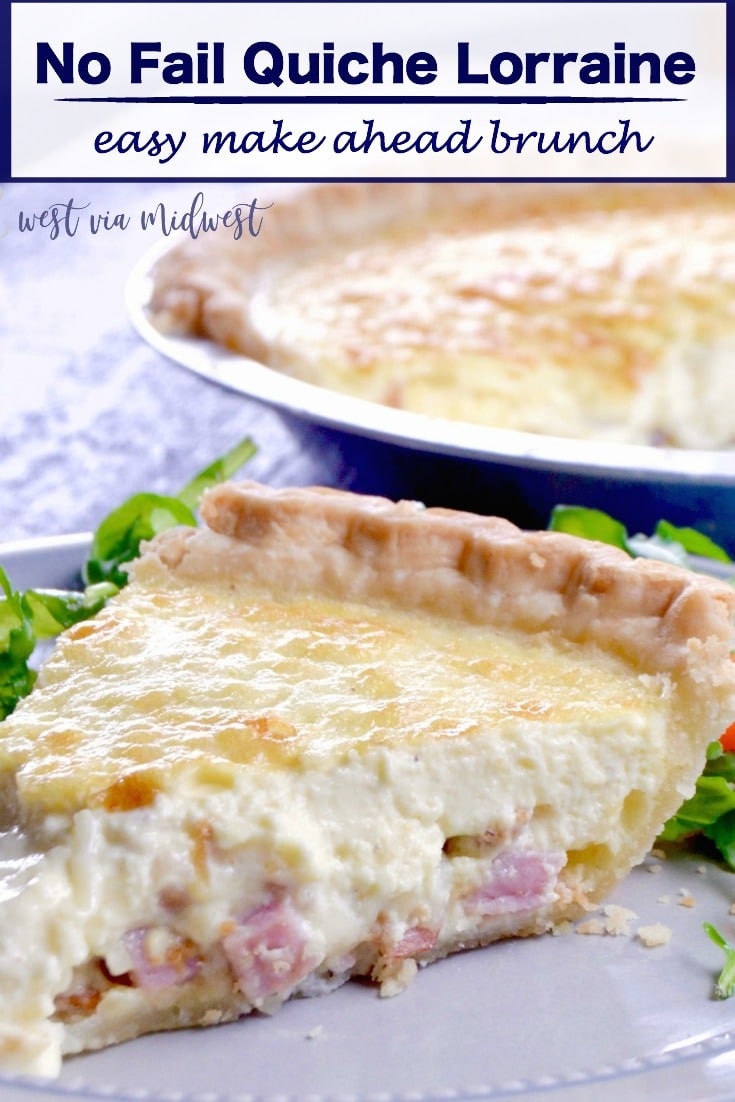 No fail quiche lorraine west via midwest no fail quiche lorraine an easy yet impressive recipe full of melty cheese crisped forumfinder Gallery