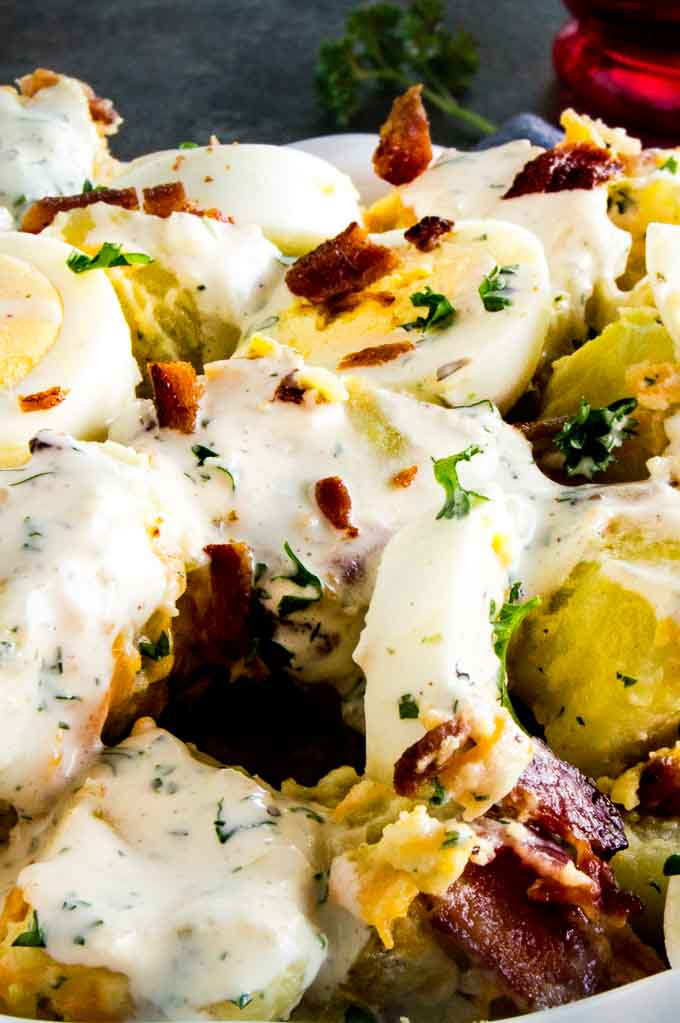 5 ingredient Bacon Ranch Potato Salad