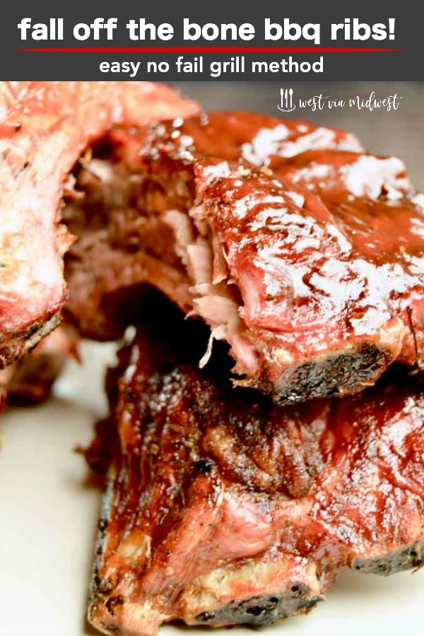 Fall off the bone BBQ ribs -- low and slow grilled for tender flavorful BBQ'ong