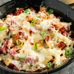 Hot Reuben totchos for weekend party food