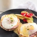 Classic Eggs Benedict (Canadian bacon toast, poached egg)
