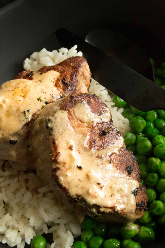 Pork Medallions in Blue cheese sauce
