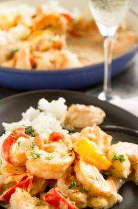 Cheesy Velvety sauce on the shrimp Alfredo( recipe )