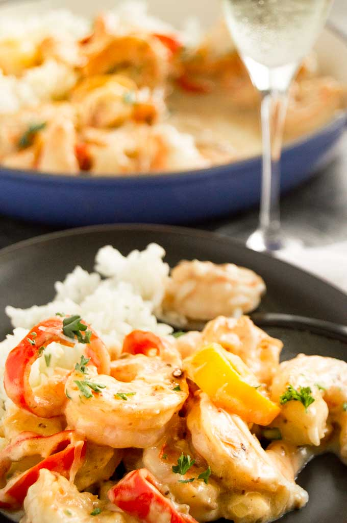 Cheesy Velvety sauce on the shrimp Alfredo( recipe )