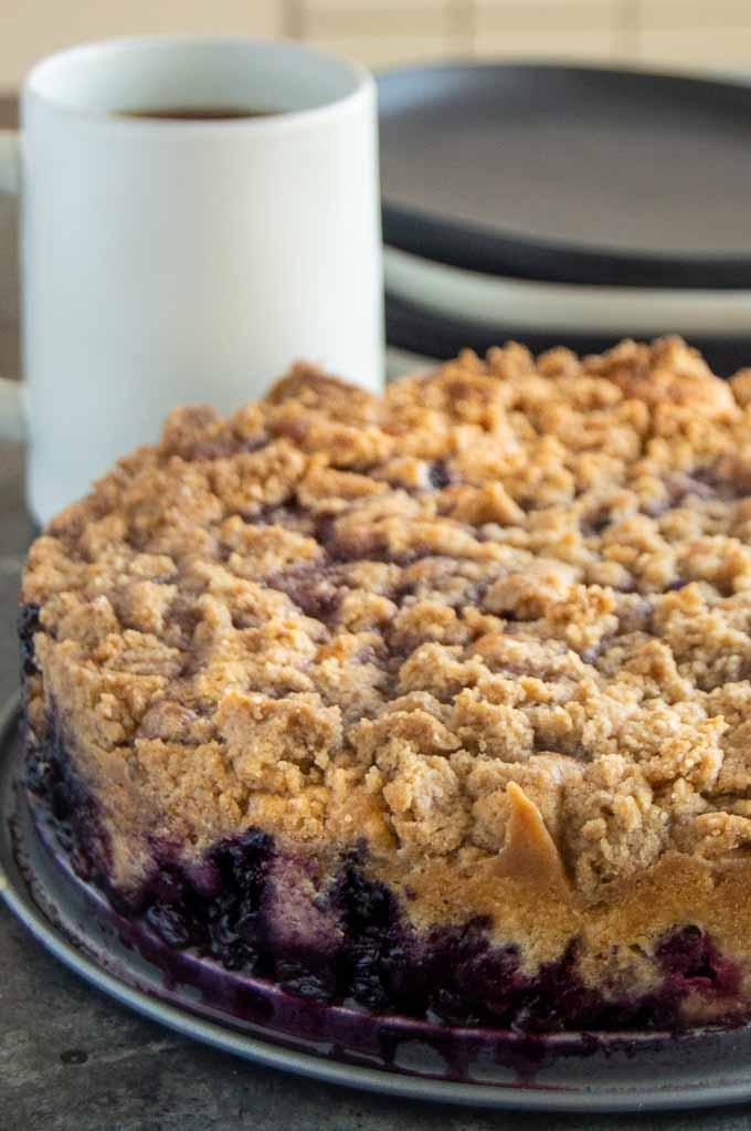 Ready to serve Blueberry Coffee Cake Buckle
